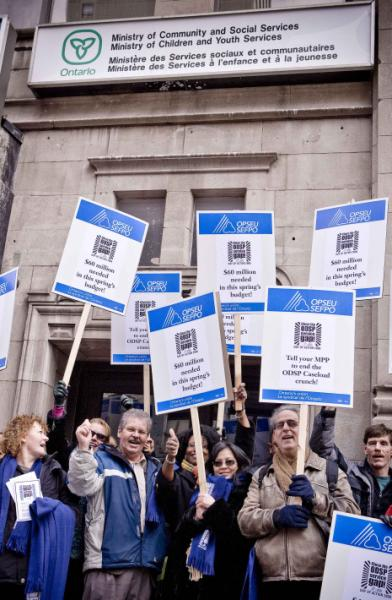 OPSEU members protest