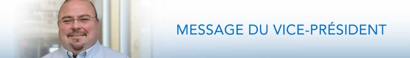 Message du vice-président/trésorier