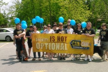 "Developmental Services workers across Ontario deliver clear message: ""Dignity is not optional"""