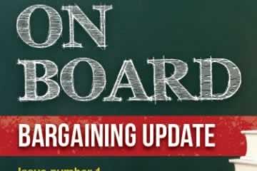 À bord : mise à jour sur les négociations Novembre 2014