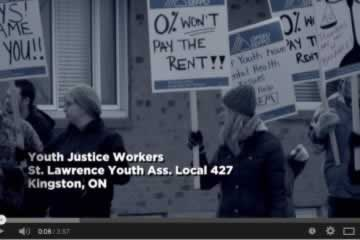 Local 427 Video: Zero per cent won't pay the rent!