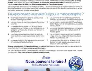 Pourquoi voter OUI au vote de grève de la FPO ?