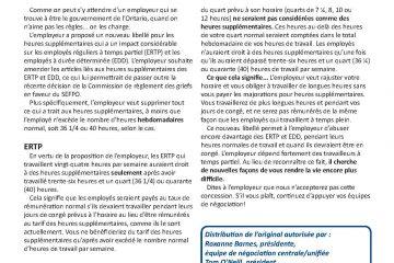 FPO Feuille d'enjeux no 9 - ERTP et EDD attaqués : Pas de temps pour le temps supplémentaire
