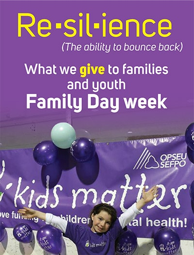 Kids Matter. Resilience, what we give to families & youth. Family day week