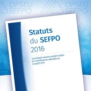 Statuts du SEFPO 2016