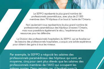 Le salaire des membres du SEFPO 5 % plus élevé en moyenne : tableau de comparaison des salaires