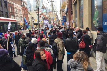 Une profonde solidarité au rassemblement des étudiants du Collège George Brown