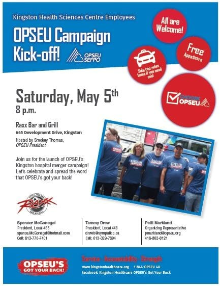 OPSEU Campaign Kick-off flyer