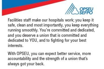 OPSEU fights hard for facilities staff