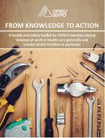 De la théorie à la pratique - Boîte à outils sur la santé et la sécurité