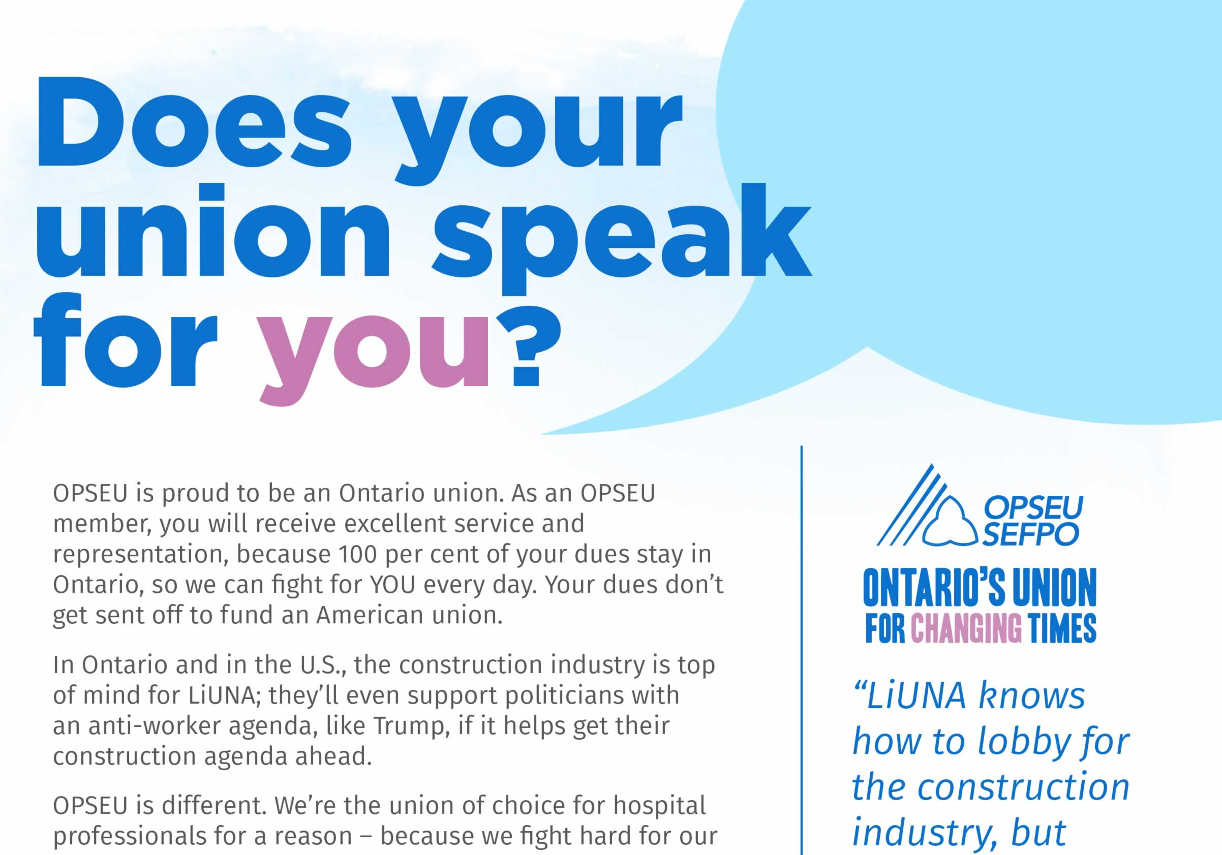 Does your union speak for you?