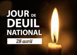 Jour de deuil national - 28 avril