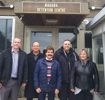 OPSEU members and others outside Niagara Detention Centre