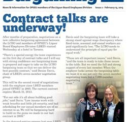 2013 Collective Bargaining Bulletin Issue # 2: February 15, 2013