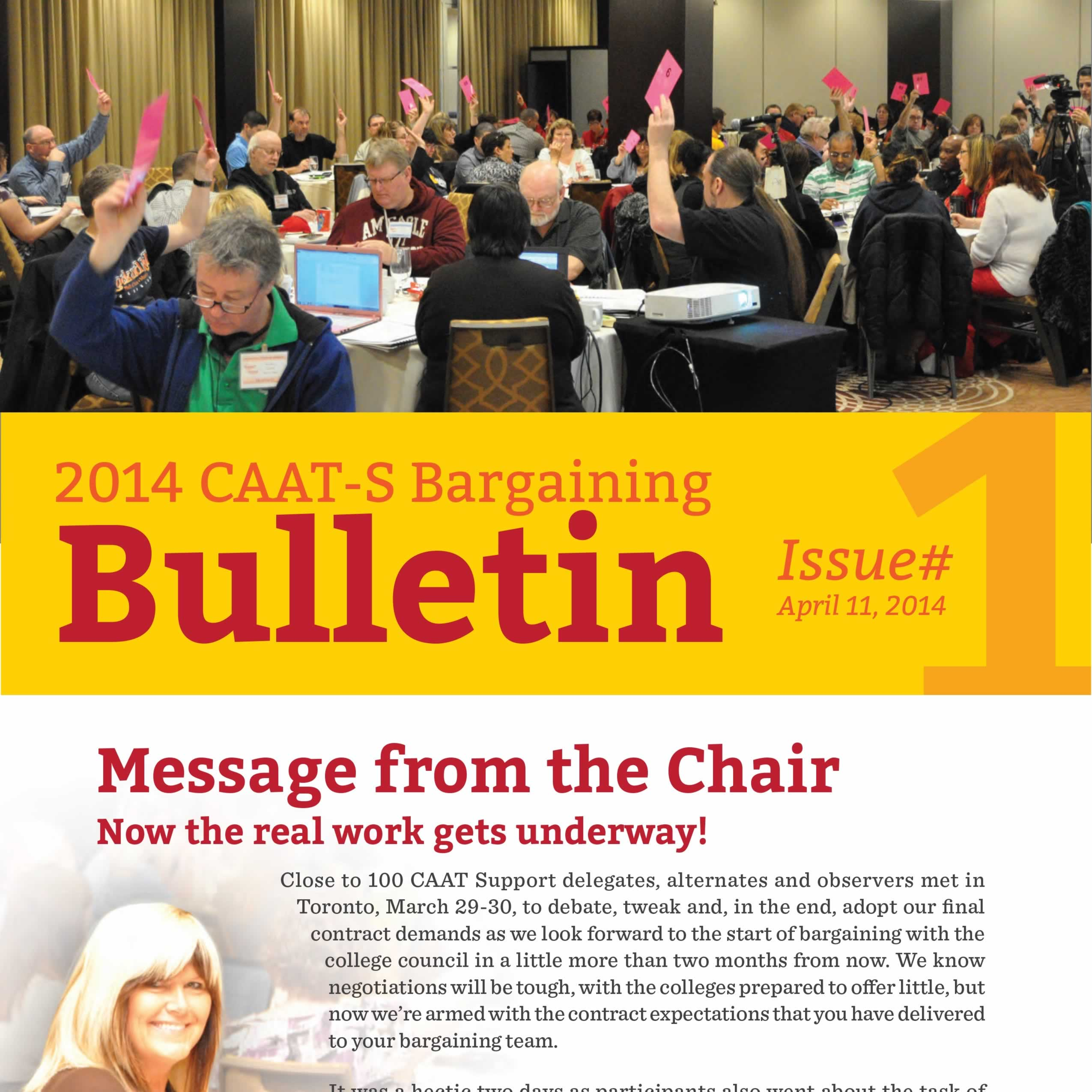 2014 CAAT-S Bargaining Bulletin Issue 1
