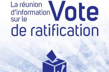Lieux du vote de ratification de l'accord de principe conclu par l'équipe centrale/unifiée de la FPO