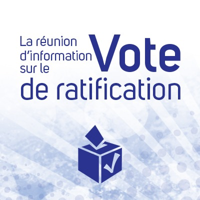 La réunion d'information sur le vote de ratification