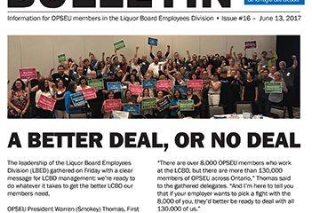Une offre meilleure ou pas d'offre du tout! Bulletin de négociation de la LBED 2017 – Numéro 16