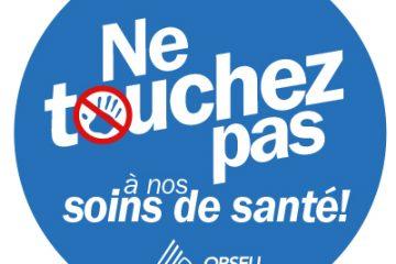 Ne touchez pas à nos soins de santé! PAS de coupures, PAS de privatisation!