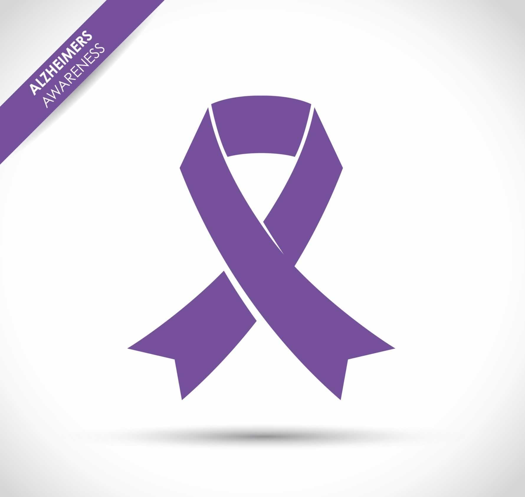 Alzheimers Awareness Ribbon