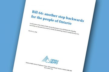 Bill 66 Submission cover