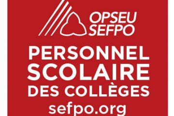 Le SEFPO lance un appel à candidatures aux membres retraités du personnel scolaire des CAAT