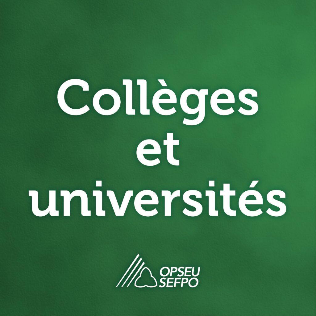 Le SEFPO soumet un mémoire pour appuyer l'éducation postsecondaire pendant l'ère de la COVID-19