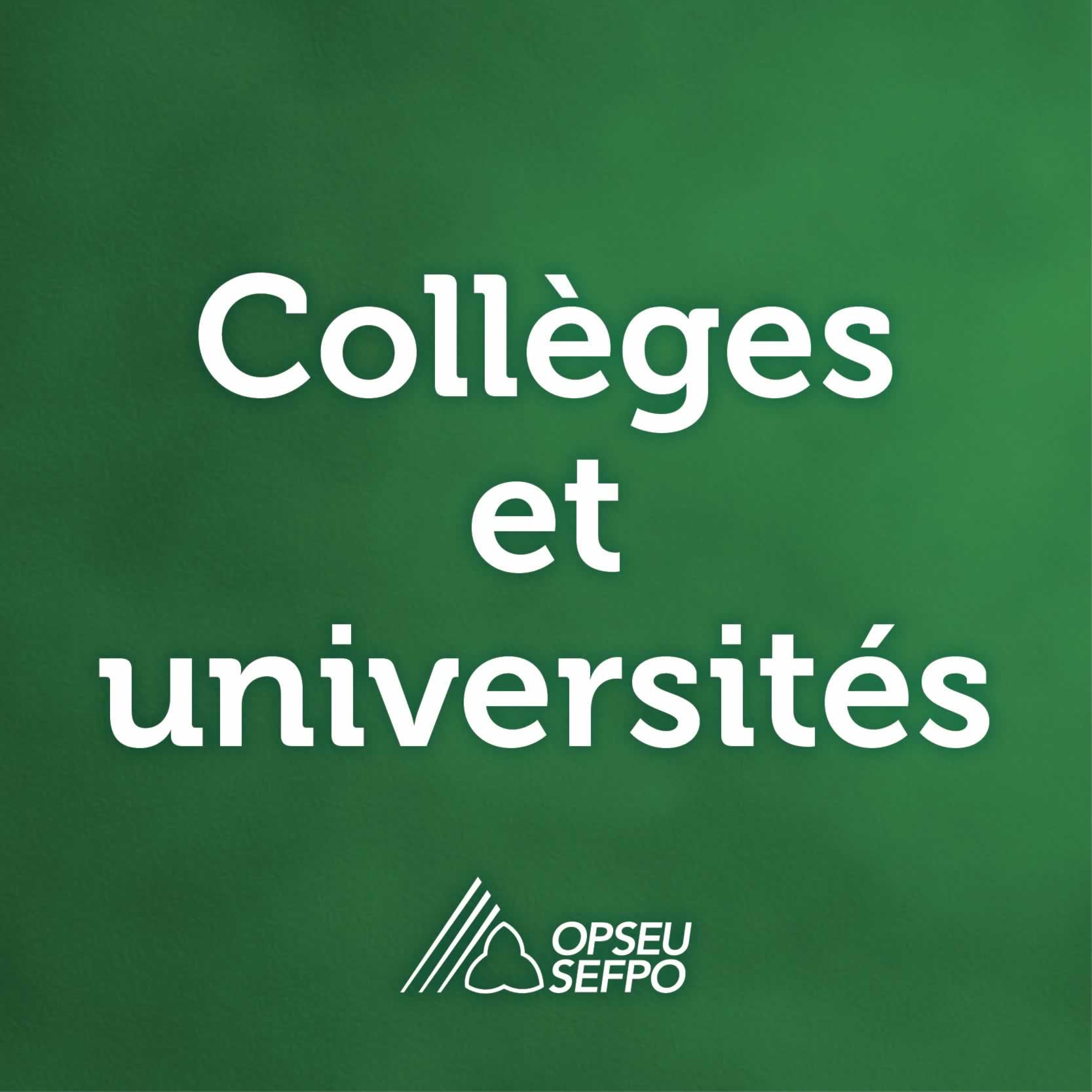 Colleges et universites - SEFPO