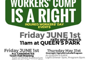 Workers' Comp is a right. Injured Workers Day Events
