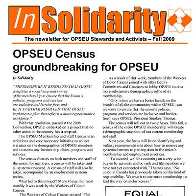In Solidarity Fall 2009