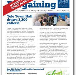 2013 Bargaining Strike Vote News Alert 4