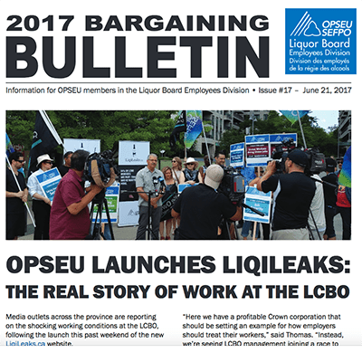 LBED 2017 Bargaining Bulletin, June 21, 2017