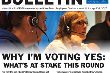 Pourquoi je vote OUI? Les enjeux de cette ronde – Bulletin de négociation de la LBED 2017, numéro 11