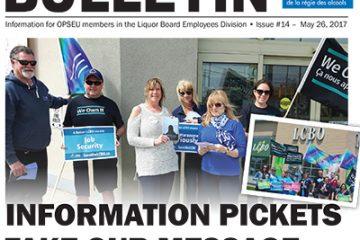 Les piquets d'information diffusent notre message à travers toute la province - Bulletin de négociation 2017 de la LBED, numéro 14