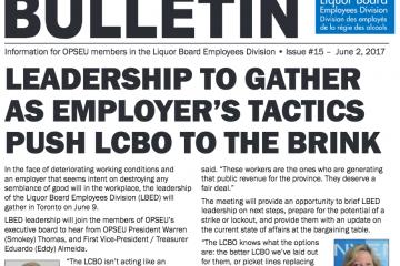 Les tactiques de l'employeur font vaciller la LCBO - Bulletin de négociation de la LBED 2017, Numéro 15