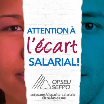 Attention à l'écart salarial! SEFPO