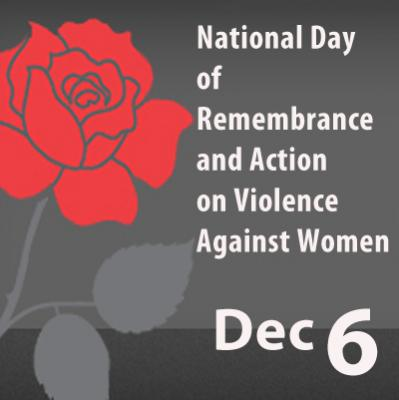 National Day of Remembrance and Action on Violence against Women Dec 6