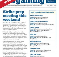 2013 Collective Bargaining: News Alert Issue #5: Strike prep meeting tomorrow