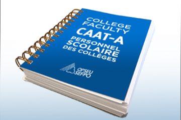 Protocole d'entente du personnel scolaire des CAAT (2014-2017)