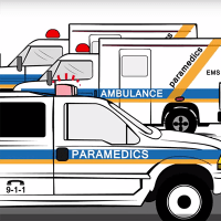 Illustration of ambulances