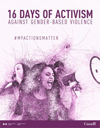 16 days of activism against gender-based violence. #myactionsmatter