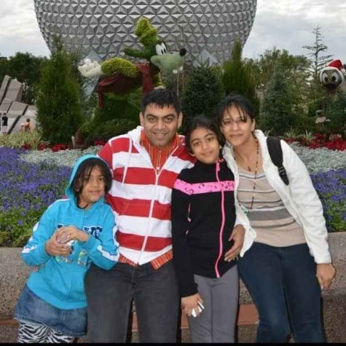 Prerit Dixit and family