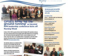 Le Rapport des IAA Numéro 2 : Un bulletin à l'intention des infirmières et infirmiers auxiliaires autorisés membres du SEFPO