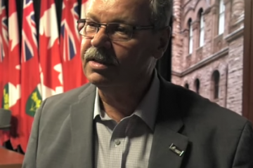 OPSEU President Warren (Smokey) Thomas in the Queen's Park media gallery.