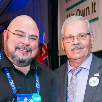 OPSEU President Warren (Smokey) Thomas and First Vice-President/Treasurer Eduardo (Eddy) Almeida