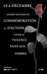 Le 6 decembre - Journee nationale de commemoration et d'action contre la violence faite aux femmes
