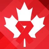 World AIDS Day Graphic - of aids awareness ribbon and Maple Leaf