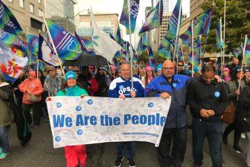 Le premier vice-président Almeida et le SEFPO aux côtés de plusieurs milliers de manifestants pour défendre les soins de santé