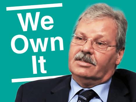 We Own It logo with OPSEU President Warren (Smokey) Thomas