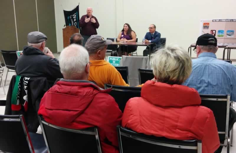 Len Elliott speaks at Chatham We Own It town hall